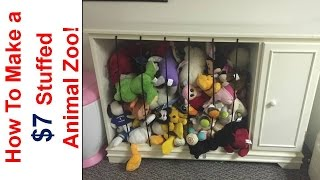 How to Build a $7 Stuffed Animal Zoo Using Repurposed Furniture!