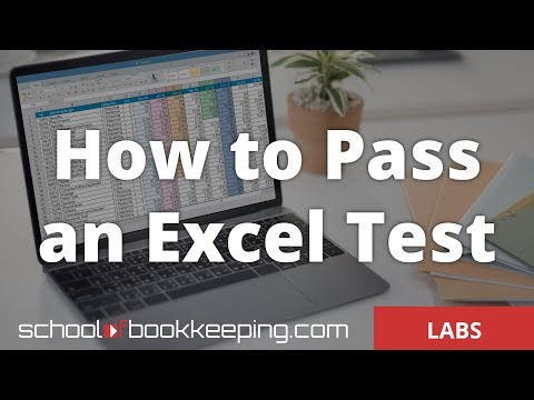 How To Pass An Excel Test 2017 From Schoolofbookkeeping