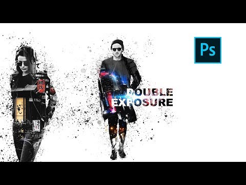 Как совместить дизайн с двойной экспозицией в Photoshop | Double Exposure