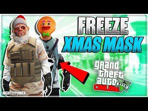 All Christmas Mask Gta 5.Xbox One Ps4 Solo Freeze Christmas Mask Director Mode