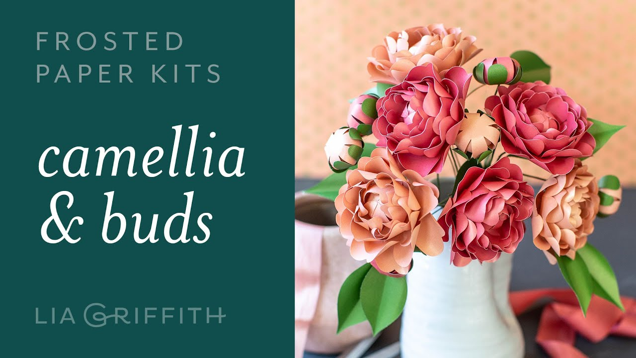 Video Tutorial: NEW Frosted Paper Camellia Flower Kit