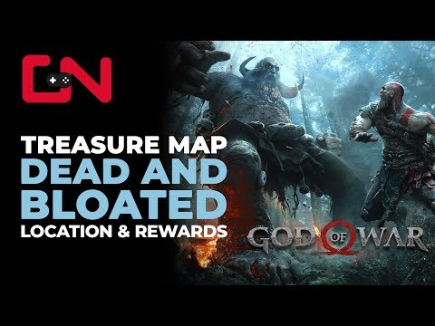 God of War Dead & Bloated Treasure Map Location