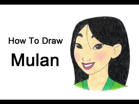 How To Draw Mulan Youtube