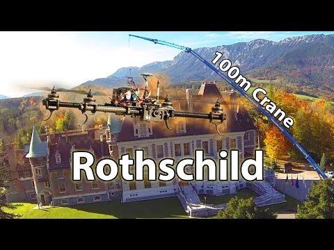 Giant Crane at Autumn Castle Rothschild / Reichenau