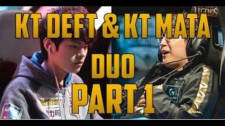 KT Deft  and KT Mata Duo Ezreal/Alistar pt. 1 ft. FOX kfo KT DEFT POV