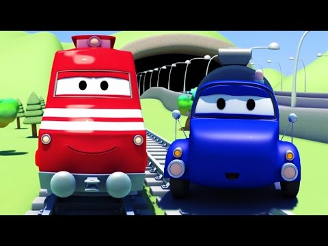 Troy o Trem e o Caminhão Tanque na Cidade do Carro | Desenhos animados de caminhões para crianças