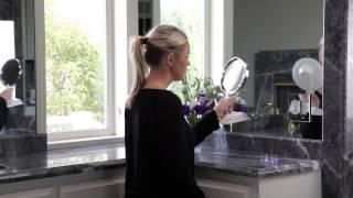 LED Lighted Adjustable Power Zoom Vanity Mirror 1X to 5X  - MODEL: PZV01