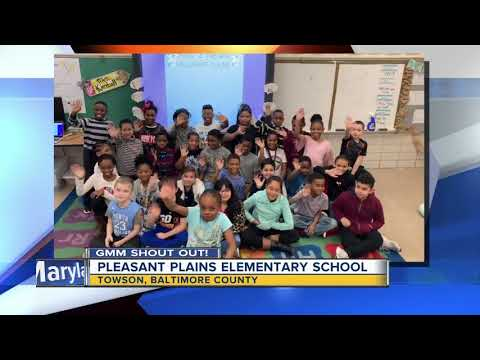 Good morning from Pleasant Plains Elementary School!