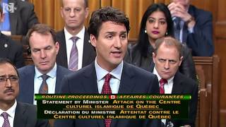 'Such senseless violence has no place' in Canada -Trudeau