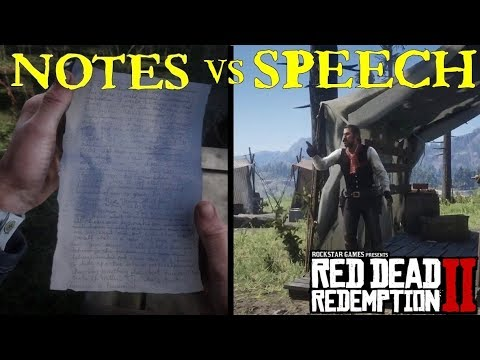 Dutch Speech with his Notes | Red Dead Redemption 2