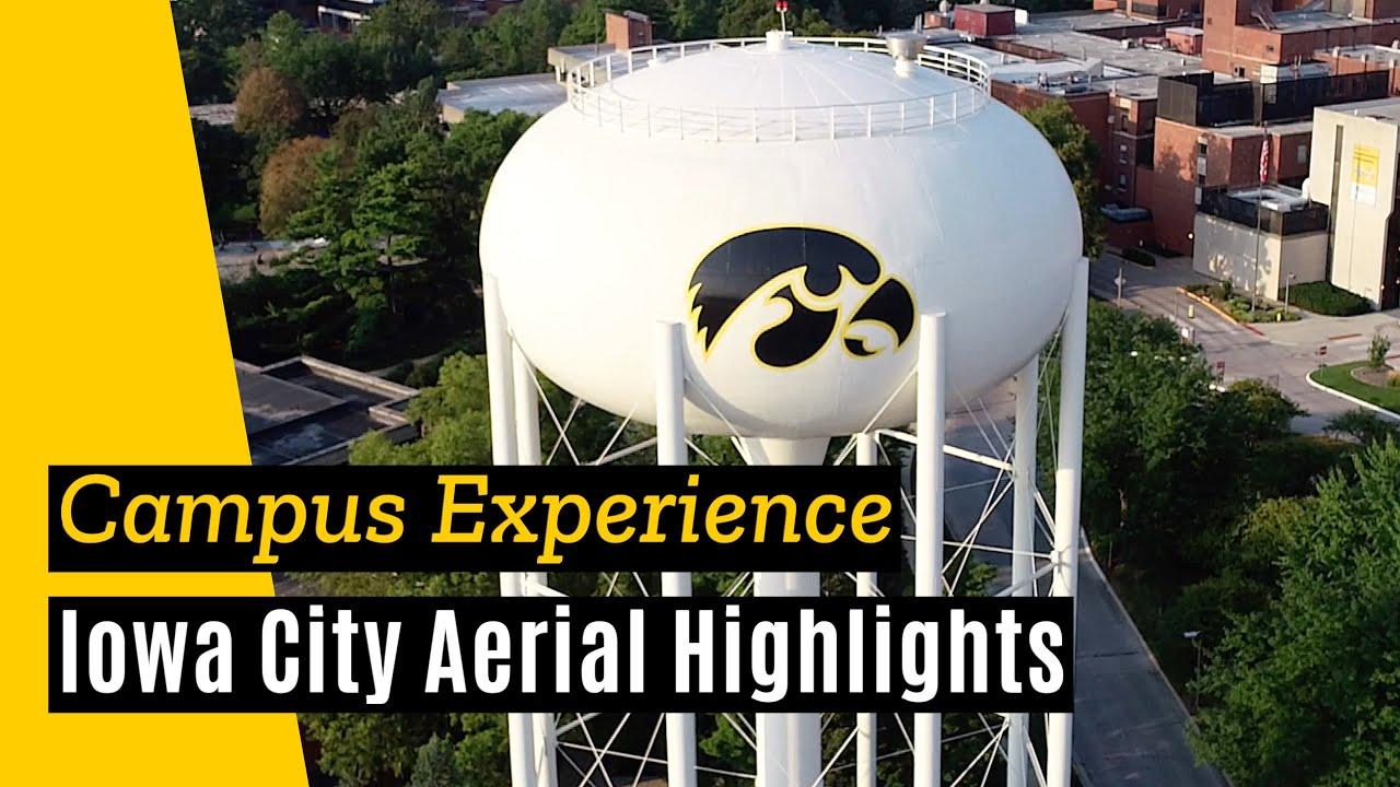 University Of Iowa And Iowa City Aerial Highlights, August 2018