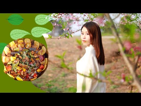 E53 Cooking Firewood Chicken Under Peach Blossom Trees| Ms Yeah