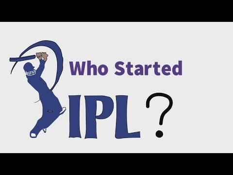 Who Started Indian Premier League ( IPL ) ? [ Hindi ]