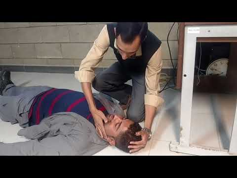 Amantack training center & K-electric employee's Tarining recovery position man
