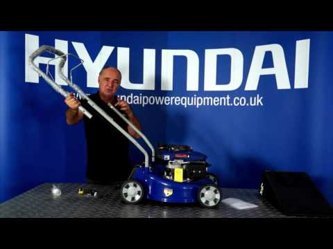 Hyundai Petrol Lawn Mower HYM40P Out Of the Box & Assembly