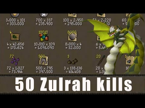 [OSRS] Loot From 50 Zulrah Kills - Road to 1B from Nothing - Oldschool Runescape Progress  - EP 23