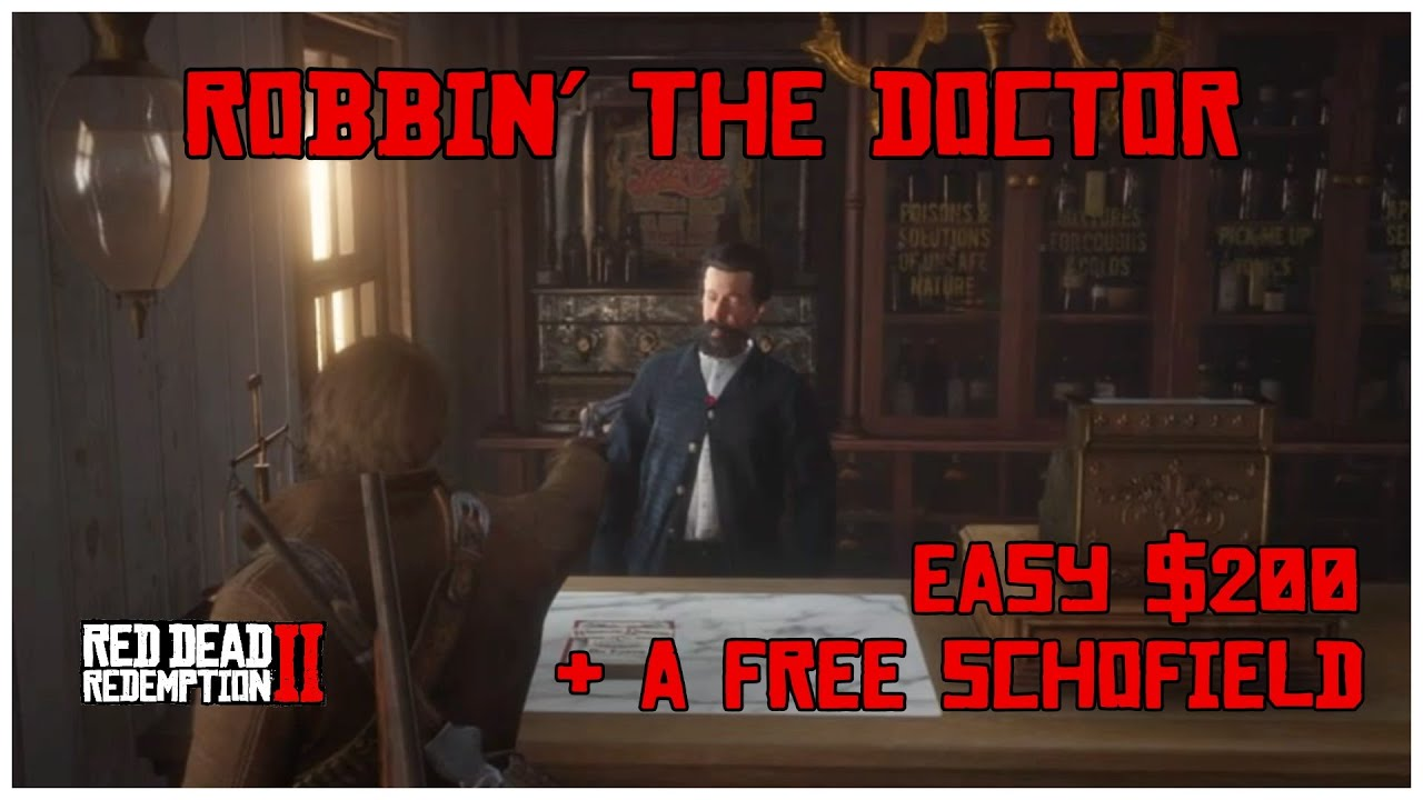 Red Dead Redemption Ii Robbing The Doctor S Office With Less Than