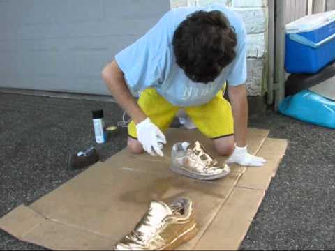 How To Paint Canvas Shoes Black