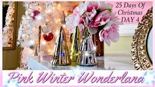 Christmas Girls Bedroom Decor | Pink Winter Wonderland | Day 4 of 25 Days of Christmas
