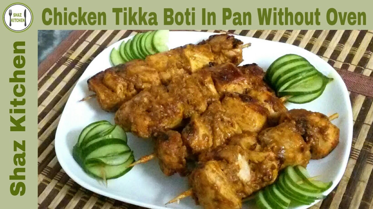 Chicken Tikka Boti In Pan Recipe(In Urdu Hindi)How To Make Restaurant  Flavor Chicken Tikka Boti a29ff869fe4f6