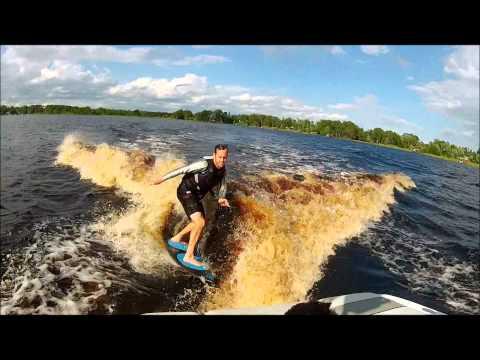Wakesurfing on Lake Mary Jane