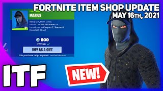 Fortnite Item Shop *NEW* MARIUS SKIN + *RARE* SKIN RETURN! [May 16th, 2021] (Fortnite Battle Royale)