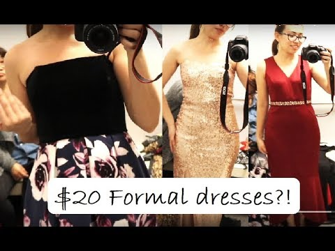 64e65d26f1196 Trying on ROSS $20 FORMAL DRESSES | CHEAP | VJLove - YouTube