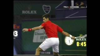 Weird: Novak Djokovic Plays Drunk against Del Potro at Shanghai Masters !!