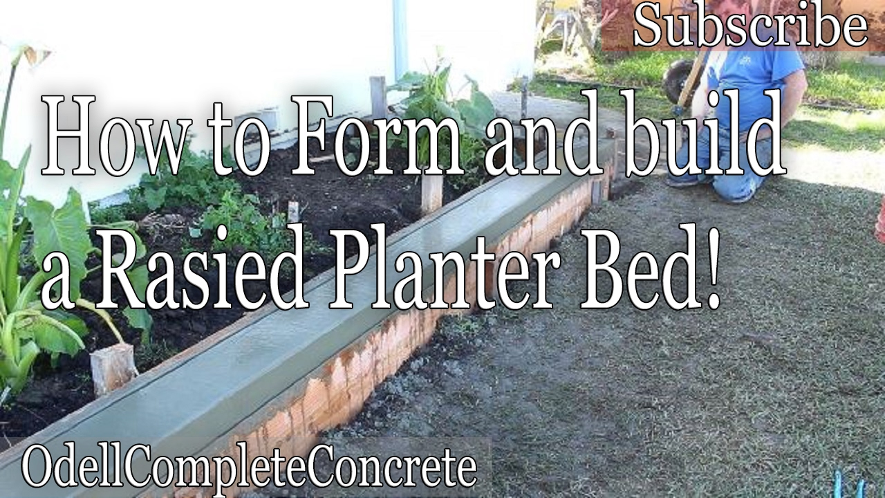 How to Build a Concrete Raised Planter Bed Part 1  YouTube