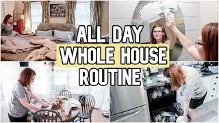 Whole House Clean With Me 2019 | All Day Cleaning Routine | SAHM Motivation