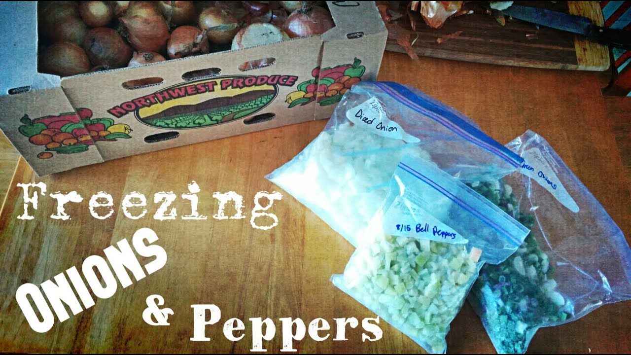 Food Storage | Freezing Onions & Peppers - YouTube