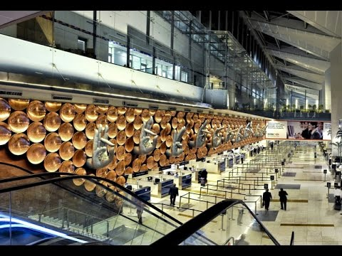 Indira Gandhi International Airport, New Delhi @ Terminal 3 @ a tour from immigration to gates.