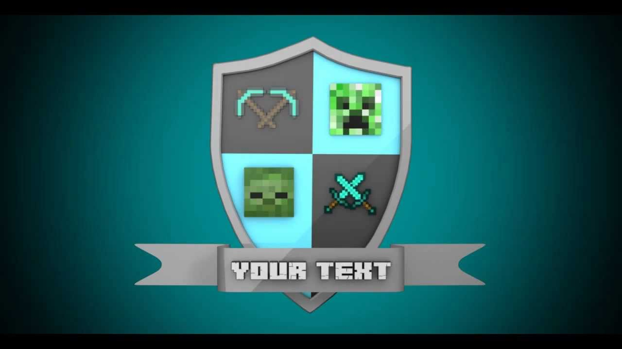 Template #16 - Minecraft shield intro (AE + Cinema 4D) - YouTube