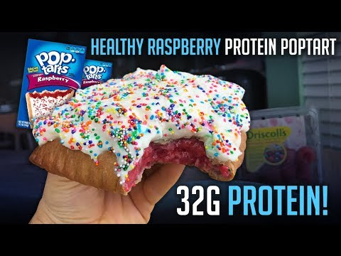 Healthy Frosted Raspberry Protein Pop Tart Recipe with 32g Protein!