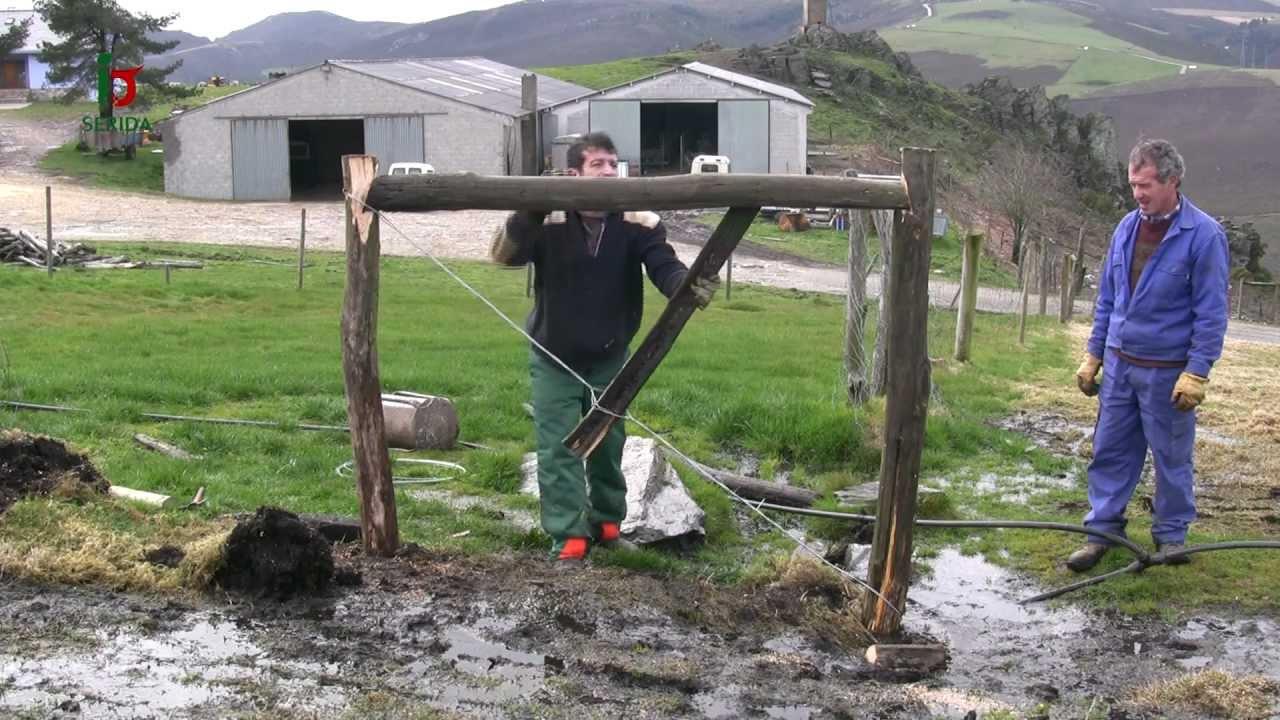 Construcci n de cercas para el ganado youtube - Alambradas para fincas ...