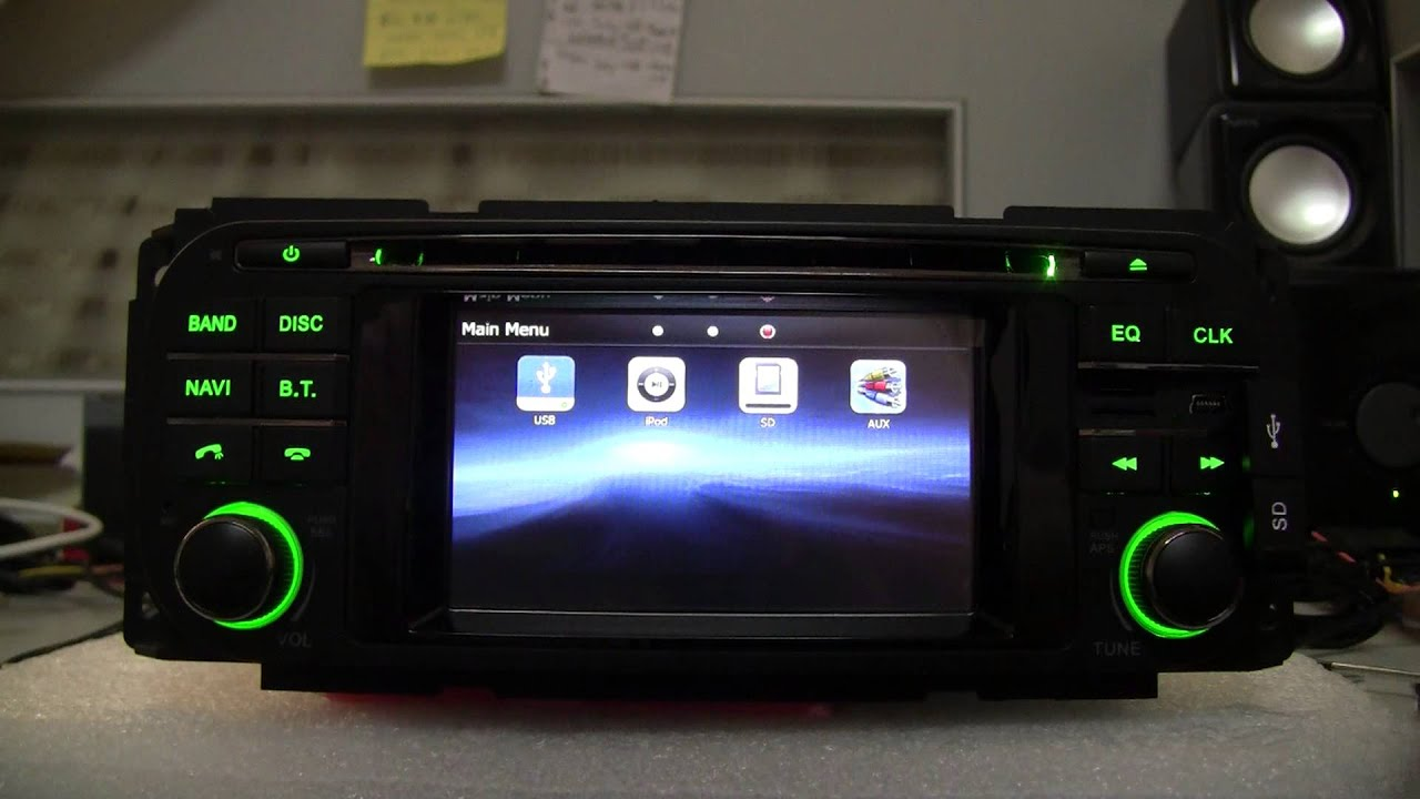 A sure2008 car dvd player gps navigation system for jeep grand cherokee liberty wrangler youtube