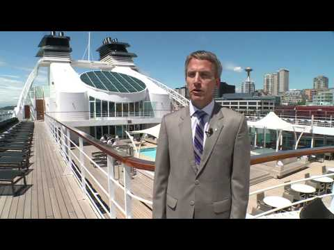 Luxury cruise ship visits busy Seattle port