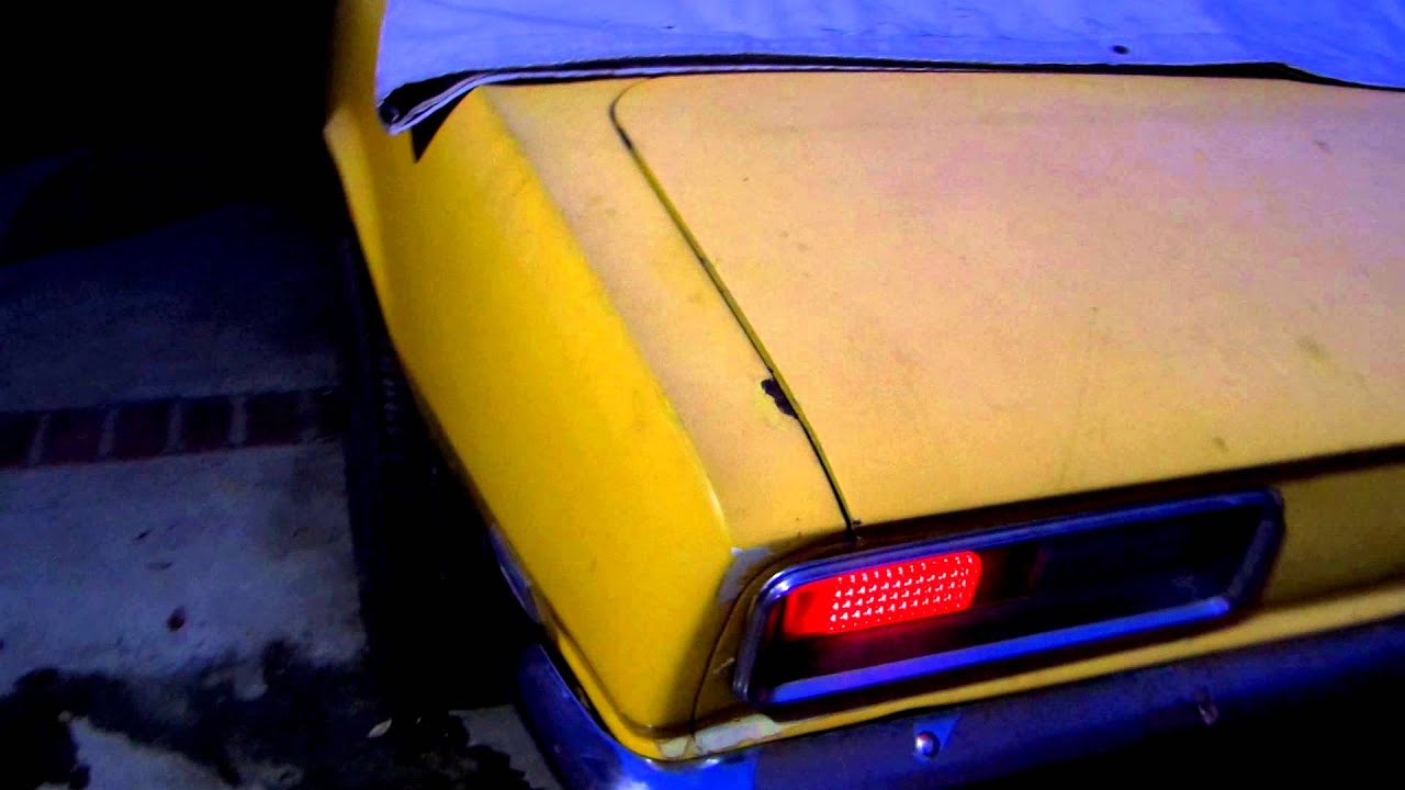 1968 Camaro Led Tail Lights Youtube