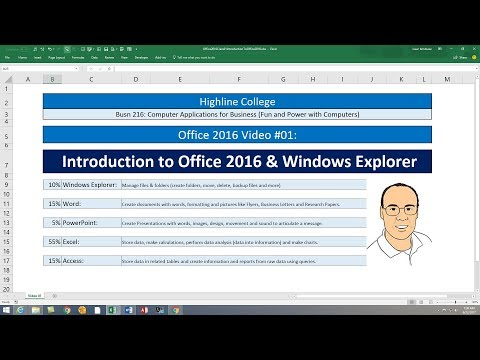 Office 2016 Video #01: Introduction to Office 2016 & Windows Explorer