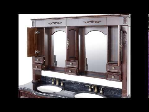 Antique Vanity Set - Double Sink - Priscilla II