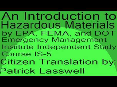 An Introduction to Hazardous Materials FEMA Independent Study Course IS 5