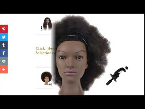 African American Mannequin Head With Human Hair – Prices, Ratings, Reviews & More Available