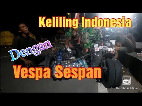Suka-duka Keliling Indonesia Dengan Vespa