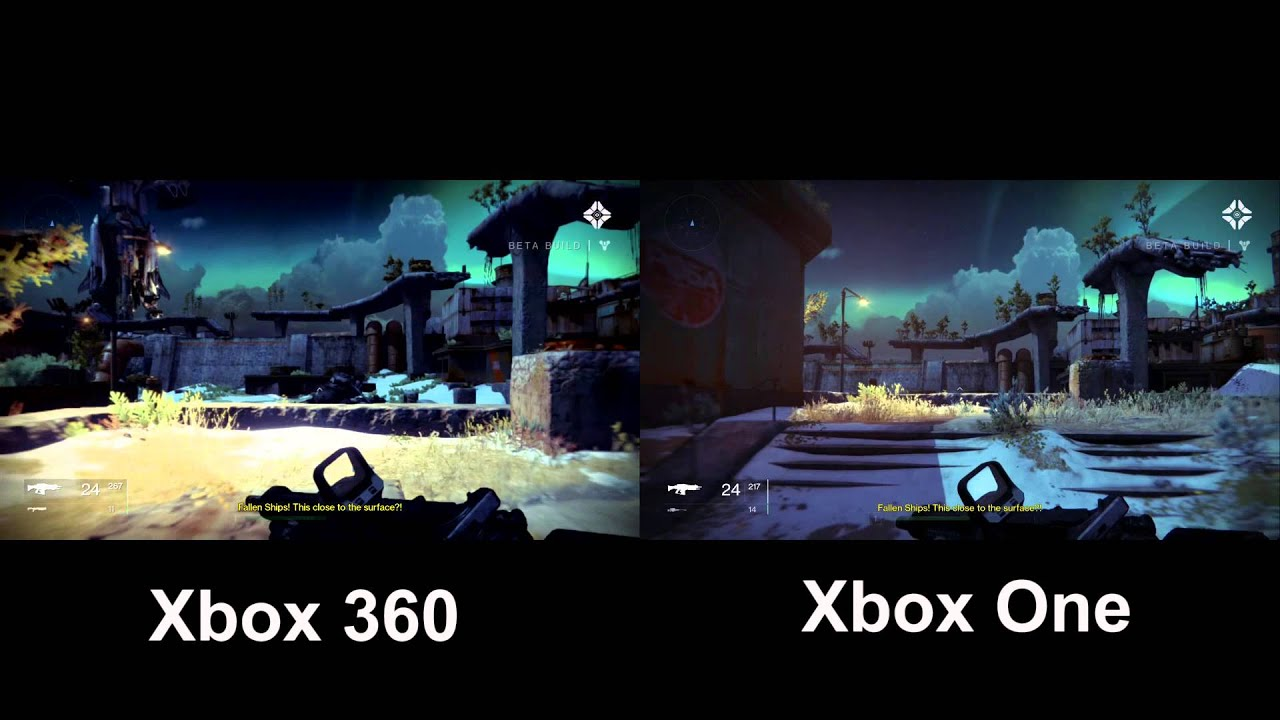 Destiny Xbox One/ Xbox 360 Comparison - YouTube
