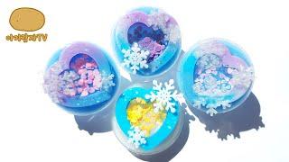 반짝이는 얼음궁전 하트 그립톡 #아기감자TV 레진공예 …