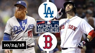 Los Angeles Dodgers vs Boston Red Sox Highlights || World Series Game 2 || October 24, 2018