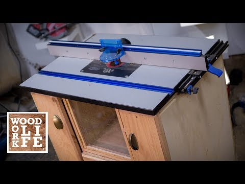 Super functional Router Table w/ Tons of Storage | Woodworking Builds