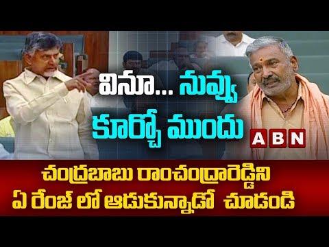 Chandrababu Serious on YCP MLA Peddireddy Ramachandra Reddy | AP Assembly Budget Session