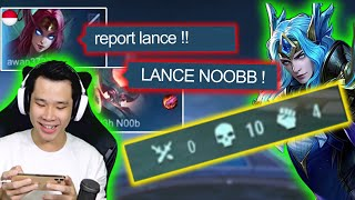Prank Top 1 Lancelot Mati 10X - Mobile Legends