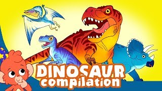 Learn Dinosaurs for Kids | T-Rex Triceratops Dinosaur Cartoon videos | scary dinasours | Club Baboo